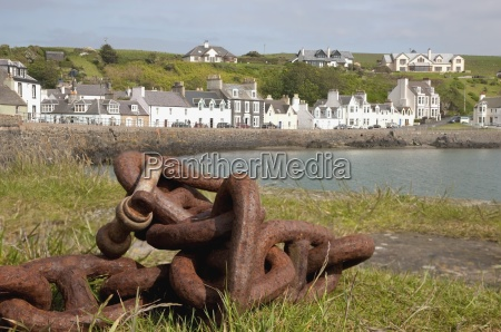 rusty nautical chain portpatrick dumfries and