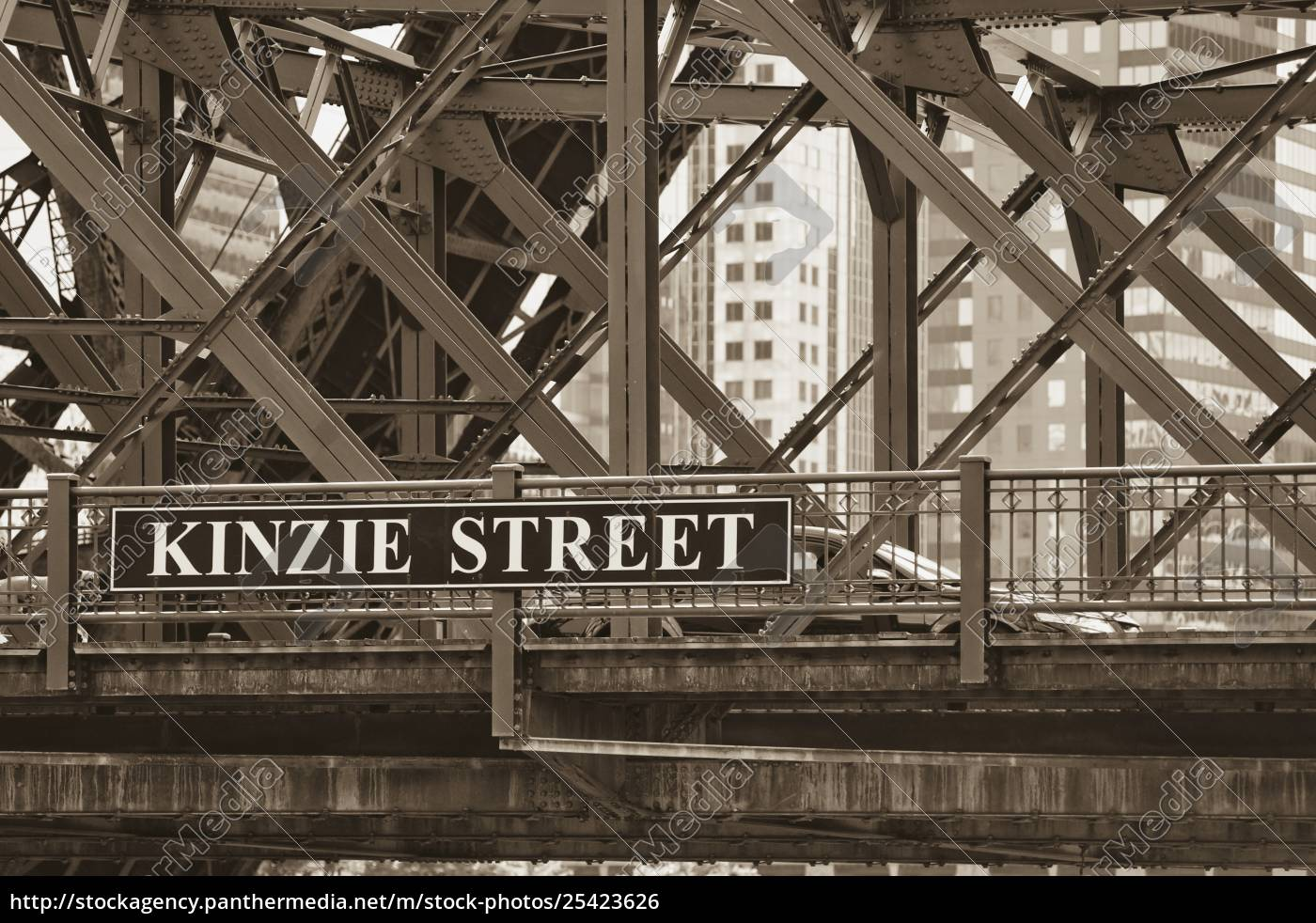 kinzie, street, bridge, , chicago, , illinois, , usa - 25423626