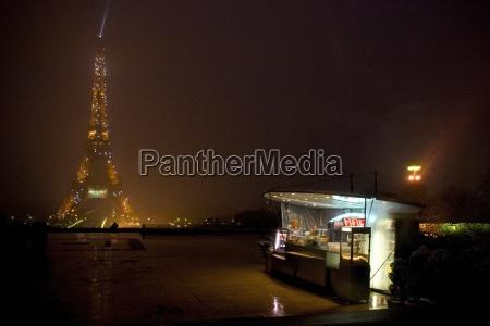 paris france eiffel tower lit up