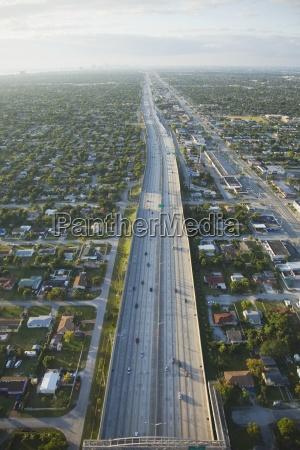 aerial view of interstate highway 95