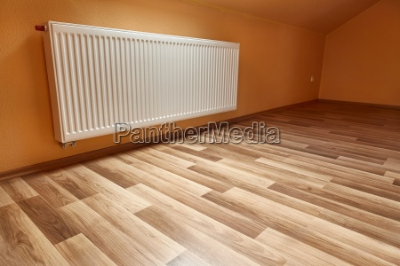 heating radiator in a room