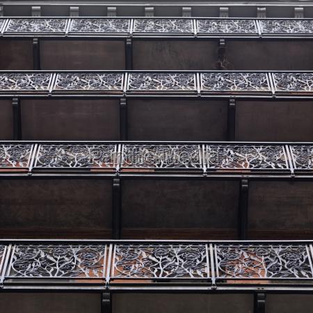 balcony detail chelsea hotel manhattan new