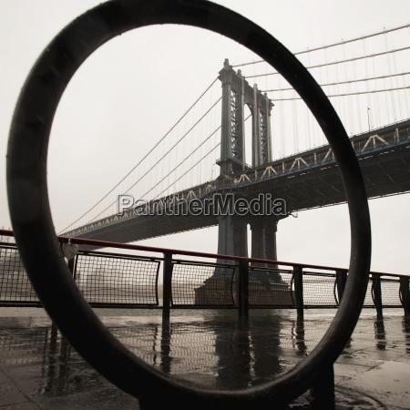 view of manhattan bridge new york
