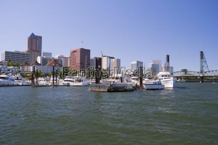 riverfront marina portland oregon usa