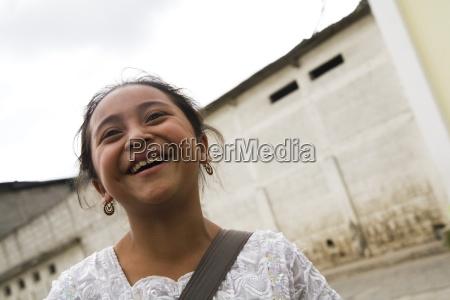 central america smiling girl patzicia guatemala