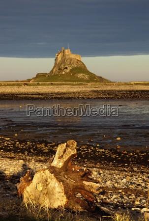 lindisfarne northumberland england a castle on