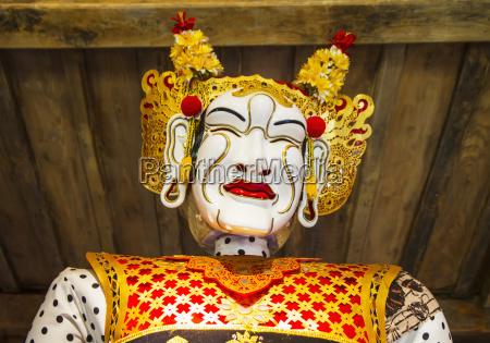 panglembar balinese dance mask on display