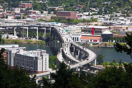 interstate 5 over marquam bridge portland