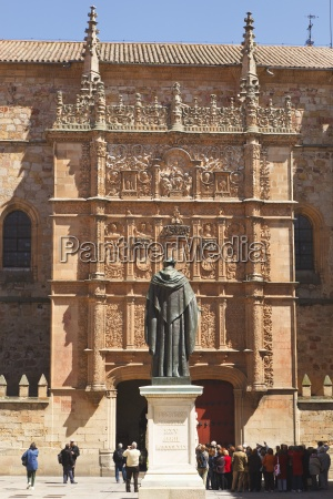 statue of augustinian friar fay luis