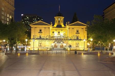 pioneer courthouse square portland oregon united