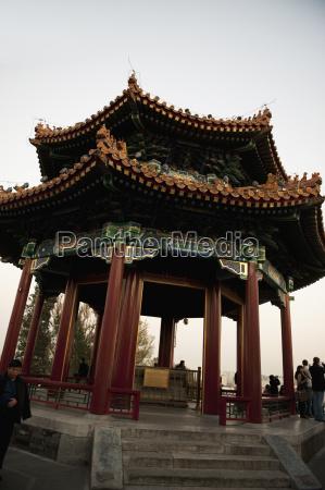 gazebo in jingshan park beijing china