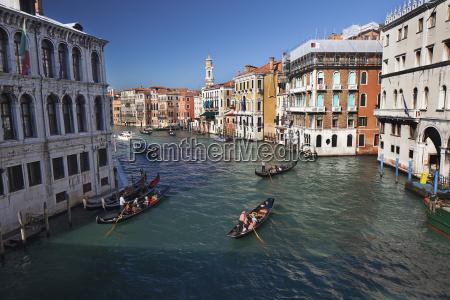 gondolas on the grand canal venice