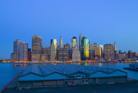 new york city skyline from the