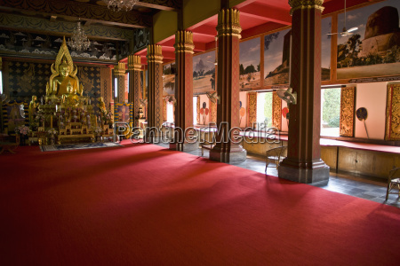 interior of a wat chiang mai