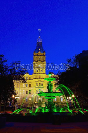 tourny fountain and the quebec parliament