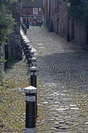 a cobblestone street rye sussex england