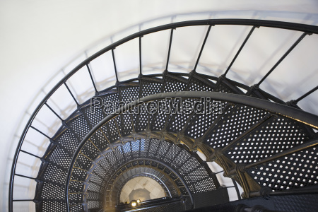 spiral stairway in yaquina head lighthouse