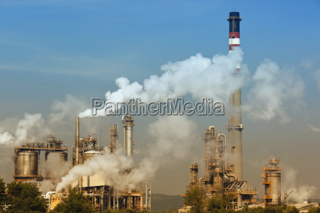 pollution from a petrochemical plant near