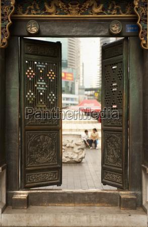 open doors on a building kunming
