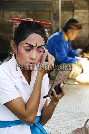 indonesia bali batubulan village barong dance