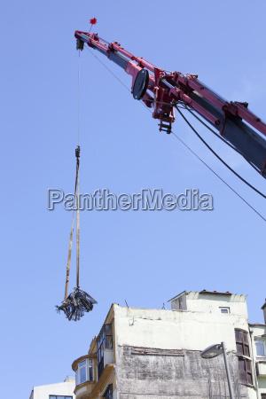heavy construction near taksim square istanbul