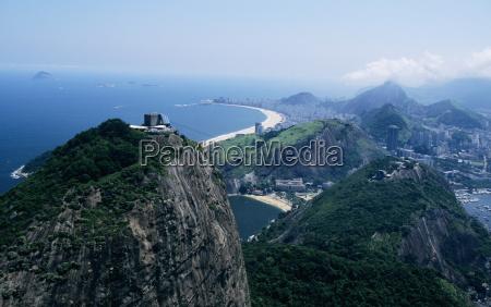 brazil copacabana beach in distance rio
