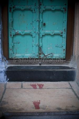 footprints leading to architectural exterior jodhpur