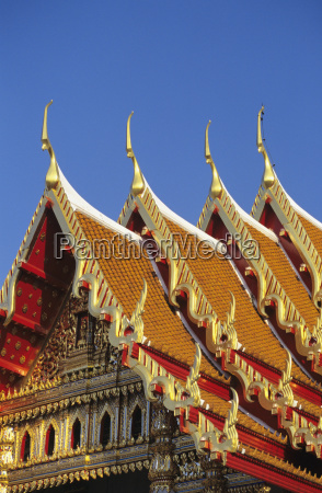 thailand top of gold trimmed temple