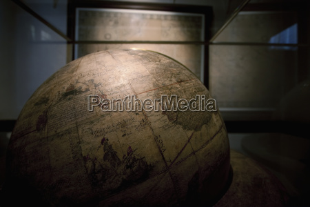terrestrial globe in the geography room
