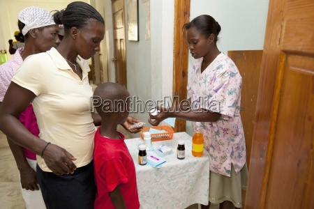 a family arrives at a clinic