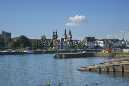 moselle river with steeples of florins