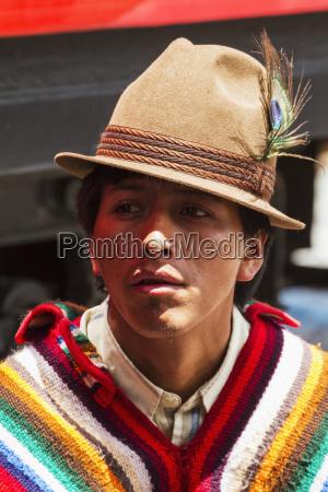 ecuadorian man guamote chimborazo ecuador