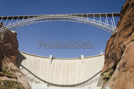 bridge crossing colorado river and glen