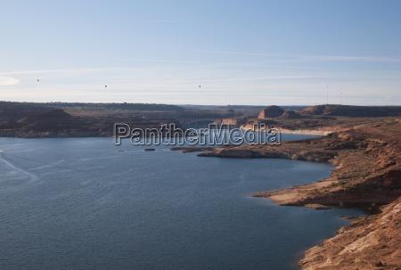 shoreline of lake powell arizona united