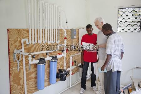 an american man trains young haitians