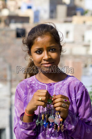 india rajasthan jodhpur portrait of a