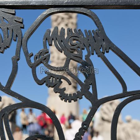 view through a cast iron gate