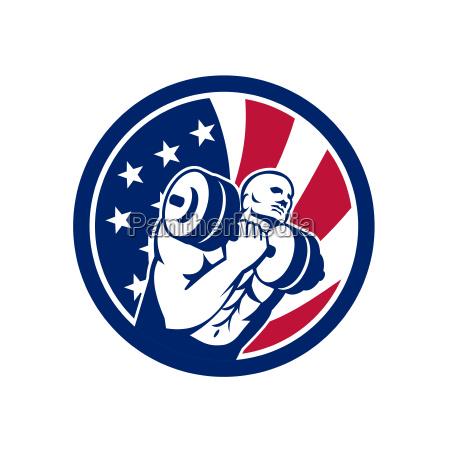 american gym circuit usa flag icon