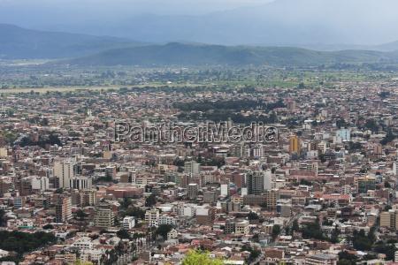 view of cochabamba from the serrana