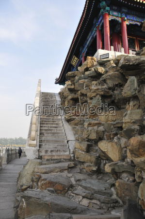 a steep stone stairway leading up