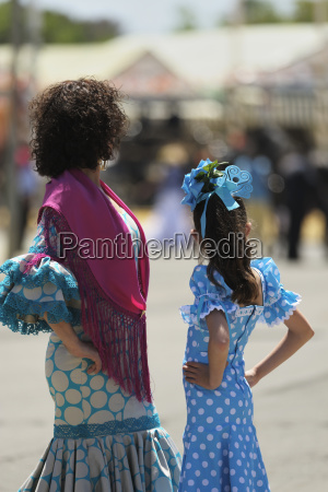 a woman and girl dressed up