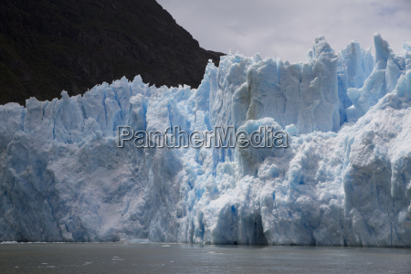 a mass of ice calves from