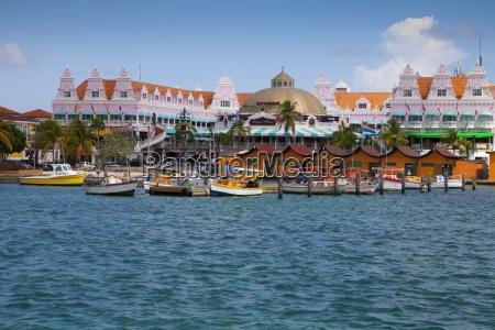 tropical cruise port caribbean marina oranjestad