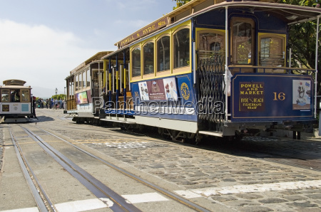 colourful san francisco cable cars on