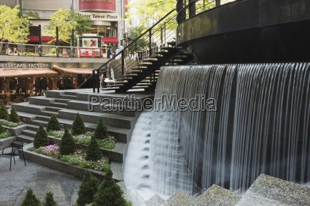 a water feature in an urban