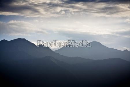 ladakh india silhouetted mountain range