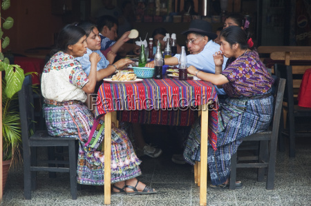 maya family enjoying lunch at a