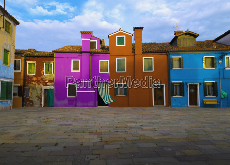italy venice colorful apartment buildings