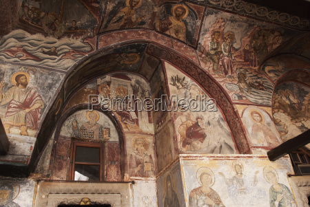 religious fresco on walls and ceiling