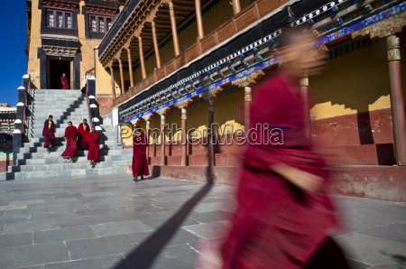 buddhist monks leave tiksey monastery after